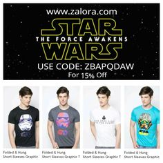 Star Wars Tees for Star Wars Fans Grab them now at www.zalora.com For free shipping, free return and Cash on delivery☺