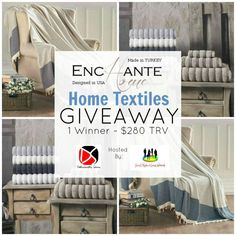 The Enchante Home Textiles Giveaway | MumbleBee Inc One (1) winner will receive a set of Enchante Home Vague Turkish Towels in any size and color PLUS a Diamente Turkish Throw [$280 TRV]! Enchante Home Diamente Turkish Throw [Winners Choice Of Color] ~ $149 RV   Wrap up in the luxurious throw, loomed from premium long-staple Turkish cotton. A bedding and decor essential designed for your comfort and luxury. Knit from imported soft Turkish cotton, you may use this high end cable-knit throw on…