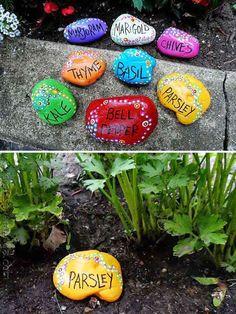 Next Post Previous Post DIY Garden Decorating Ideas with Rocks and Stones Fabulous DIY Garten Deko Ideen mit. Diy Garden, Garden Crafts, Garden Projects, Garden Art, Garden Landscaping, Garden Design, Diy Projects, Herb Garden, Cheap Garden Ideas