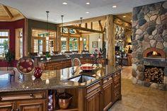 Cozy on a Grand Scale: A Lodge-Style Log Retreat in Michigan p29 - LogHome.com