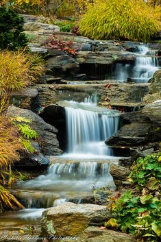 Garden Waterfall by Michelle Hennessy Beautiful Places, Beautiful Pictures, Mountain Waterfall, Garden Waterfall, Best Vacation Destinations, Les Cascades, Scenic Photography, Photography Tips, Digital Photography
