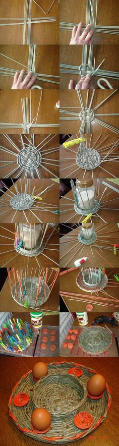 DIY Woven Paper Easter Tray | iCreativeIdeas.com Like Us on Facebook ==> https://www.facebook.com/icreativeideas