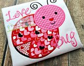 Ladybug with Hearts Valentine Machine Embroidery Applique Design 4 Sizes Embroidery Designs, Applique Designs, Applique Ideas, Sewing Machine Embroidery, Embroidery Files, Zine, Love Machine, Business Pages, Vinyl Cutter