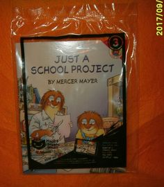 McDonalds Happy Meal Toy #3 Just a School Project Book by Mercer Mayer, NIP 2017 #McDonalds
