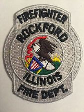Rockford Illinois IL Firefighter Fire Dept Patch