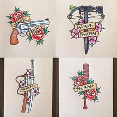 Afbeeldingsresultaat voor american traditional walking dead tattoo