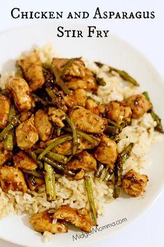 Chicken Asparagus Stir Fry. Skip the take out and make this Chicken Asparagus Stir Fry. Better for the budget and healthier too.