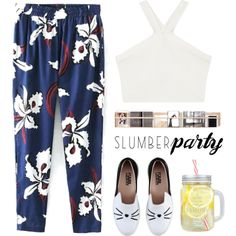 Sleep on It! Slumber Party Style // Top Fashion Sets for Jun 1st, 2016 by bliznec-anna on Polyvore featuring BCBGMAXAZRIA, Karl Lagerfeld, slumberparty, polyvoreeditorial, polyvorecontest and polyvorefashion