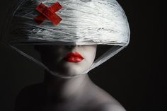 Avant-garde Fashion Photography: Love the Red Lips  . . .