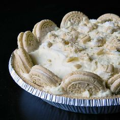 Easy No Bake Golden Oreo Cream Pie. Yummy in the tummy and perfect for your next function.