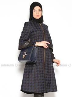 Zippered container - Navy Blue, Coats and Topcoats. Modanisa your online muslim modest fashion store. Thousands of items at discounted prices. Start shopping.