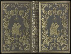 Beauties of Sacred Literature. Boston & Cambridge: James Munroe & Co., 1848.    American gift books in morocco grain (top) and net grain (bottom) cloth blocked in gold with several elaborate dies on both boards.