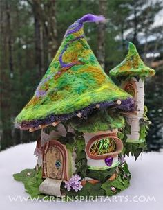 Sally J. Smith of Green Spirit Arts creates these one of a kind fairy houses~@Luana Biddulph Strader