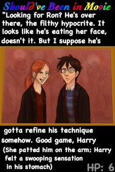 Harry Potter and the Half-Blood Prince Should've Been in Movie Ginny and Harry moment Ron Lavender