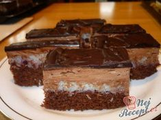 Slovak Recipes, Czech Recipes, Hungarian Recipes, Cake Bars, Big Cakes, Sweet Cakes, Canned Meat, Wedding Desserts, Desert Recipes