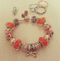 Pandora orange&rose combination