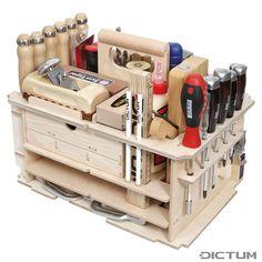 Woodworking Ideas Shed DICTUM Tool Carrier Cabinet making Interior Work Equipped Set Workshop Storage, Workshop Organization, Diy Workshop, Tool Storage, Lumber Storage, Organization Ideas, Wood Tools, Diy Tools, Tool Tote