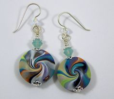 Polymer+Clay+Earrings.+Polymer+Clay+Dangle+Earrings.+Dangle