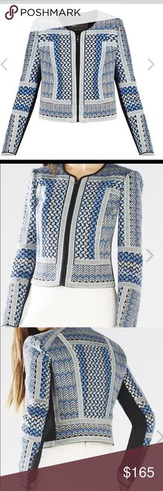 ✨Bcbg✨new with tags gorgeous jacket Short jacket in blue runs small ( label show m) BCBGMaxAzria Jackets & Coats Blazers