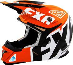 FXR Racing - 2015 Snowmobile Apparel - X1 Youth Helmet - Orange