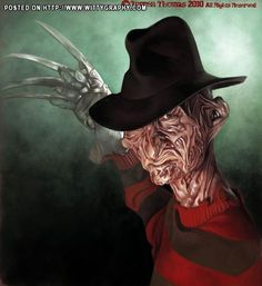 Freddy Kruger  FOLLOW THIS BOARD FOR GREAT CARICATURES OR ANY OF OUR OTHER CARICATURE BOARDS. WE HAVE A FEW SEPERATED BY THINGS LIKE ACTORS, MUSICIANS, POLITICS. SPORTS AND MORE...CHECK 'EM OUT!! Anthony Contorno Sr