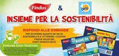 #Findus & #Decò Insieme per la sostenibilità: stampa i #coupon! #buonisconto #pazziperlaspesa