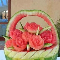 Watermelon art - amazing to look at!