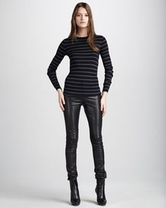 Motocross Leather Jeans by Vince at Neiman Marcus.