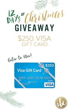It's the 12 Days of Christmas! ENTER TO WIN a $250 VISA Gift Card via @inspiredbycharm #IBCholiday