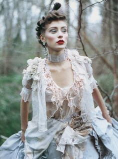 Reblogged from adjectival.  Olga Pantushenkova photographed by Paolo Roversi for Vogue U.K. (c. 1994).