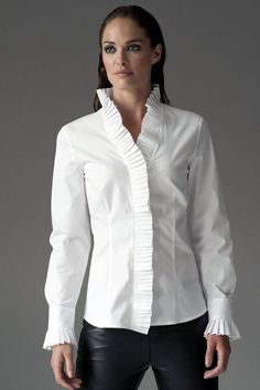 Beautifully styled white button up shirt -this takes a women's workwear staple to the next level  https://www.cityblis.com/9137/item/12545