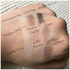 MAC Eyeshadow Palette Dusky Rose - Swatches!