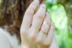 14kt Gold Stacking Ring- Slender Gold Band- Handmade 14kt Gold fill Ring- Gold Stacking Ring- Hammered Slender Stacking Ring- Textured Wire Wrapped Earrings, Wire Wrapped Pendant, Handcrafted Jewelry, Earrings Handmade, Gold Wire, Copper Wire, Face Earrings, Gold Statement Earrings, Jewelry Making Tutorials