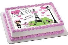 Paris cake topper Paris edible image Paris by SugarPRINTcess