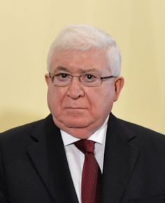 IRAQ: Muhammad Fuad Masum B: is the current President of Iraq, a veteran Iraqi Kurdish politician & is the non-Arab president of Iraq, succeeding Jalal Talabani, a Kurd who was a confidant of Talabani. He is a Sunni Muslim.