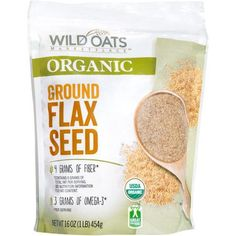 Wild Oats Marketplace Organic Ground Flax Seed is a healthy, affordable addition to smoothies and shakes.