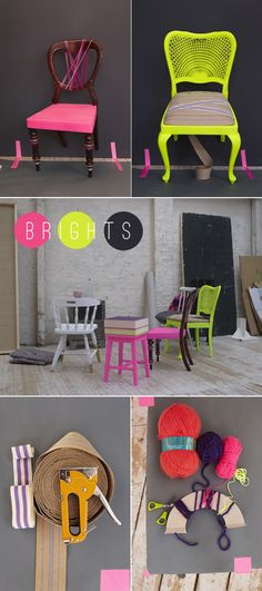neon chair re-do. i want to have a neon room in my house. oohh awesome!