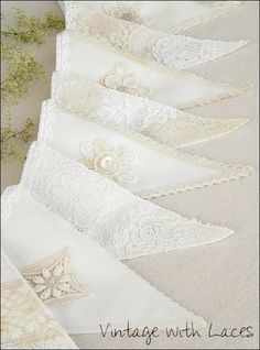 Lace Bunting by Vintage with Laces 2019 Lace Bunting by Vintage with Laces The post Lace Bunting by Vintage with Laces 2019 appeared first on Lace Diy. Lace Bunting, Vintage Bunting, Wedding Bunting, Fabric Bunting, Bunting Garland, Bunting Banner, Vintage Lace, Wedding Decorations, Diy Party Bunting