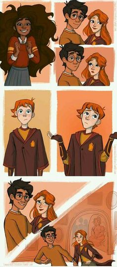 Harry and ginny kiss part 3 harry potter drawings, harry potter fan art, harry Arte Do Harry Potter, Harry Potter Comics, Yer A Wizard Harry, Harry Potter Drawings, Harry Potter Ships, Harry Potter Books, Harry Potter Universal, Harry Potter Fandom, Harry Potter World