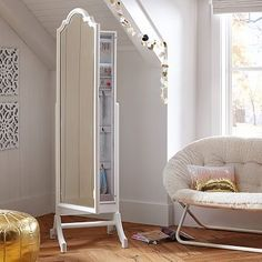 Jewelry Storage Floor Mirror. Uh yes! It's a mirror and a jewelry box!