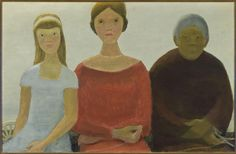 Art Canada Institute, Jean Paul Lemieux, The Fates (Les Parques), 1962 Female Portrait, Portrait Art, Woman Portrait, Jean Paul Lemieux, Winnipeg Art Gallery, Classical Mythology, Canada, Canadian Art, Indigenous Art