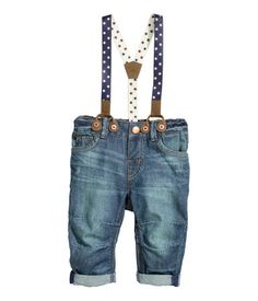 5-pocket jeans in washed denim with distressed details. Adjustable  elasticized waistband 7ed8d4c1595