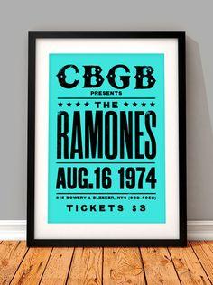 The Ramones vintage concert poster The Ramones art print