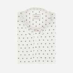 Print Motif Shirt in Off White   Frank & Oak
