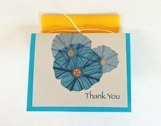 Morning Glory Thank You Greeting Card-Cream - Set of 10 by nadiajlee on Etsy