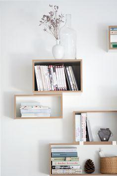 Wandregal - Inspiration   Wohnen, Einrichten, Regalmodule, Regalsystem, Bücherregal, Bücher, weiß, Wohnzimmer
