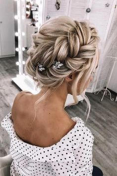 45 Summer Wedding Hairstyles Ideas summer wedding hairstyles volume braided crown on blonde hair weddstasyuk weddingforward wedding bride weddinghair summerweddinghairstyles Summer Wedding Hairstyles, Braided Hairstyles For Wedding, Loose Hairstyles, Bride Hairstyles, Hairstyle Ideas, Ponytail Hairstyles, Party Hairstyle, Hairstyles 2016, Sponge Hairstyles