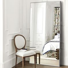 Modern Aluminum Alloy Thin Framed Full Length Floor Mirror - On Sale - Overstock - 30393628 - 71x31x1 - Gold Fine Furniture, Rustic Furniture, Luxury Furniture, Living Room Furniture, Living Room Decor, Living Spaces, Antique Furniture, Outdoor Furniture, Modern Furniture
