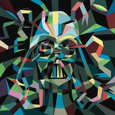 I would never make one, but this is very creative!  Darth Vader Quilt