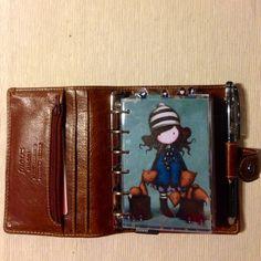 Filofax wallet / malden pocket in ochre / filofaxing / gorjuss / diy / dividers /  filofaxerei